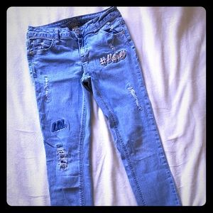 Justice size 12 distressed Jeans